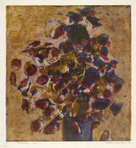 Flower, 1961, etching 48 x 38 cm, Currently in the collection of the Australian National Gallery